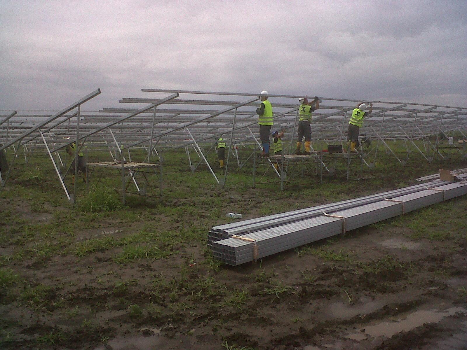 Axial Solar estructura planta energia fotovoltaica