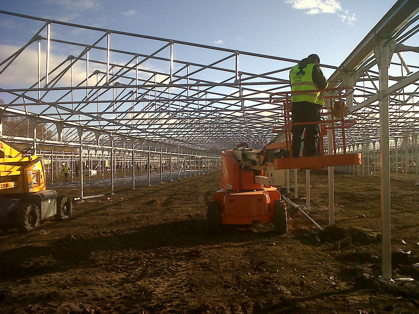 Axial Solar montaje estructura Planta Fotovoltaica
