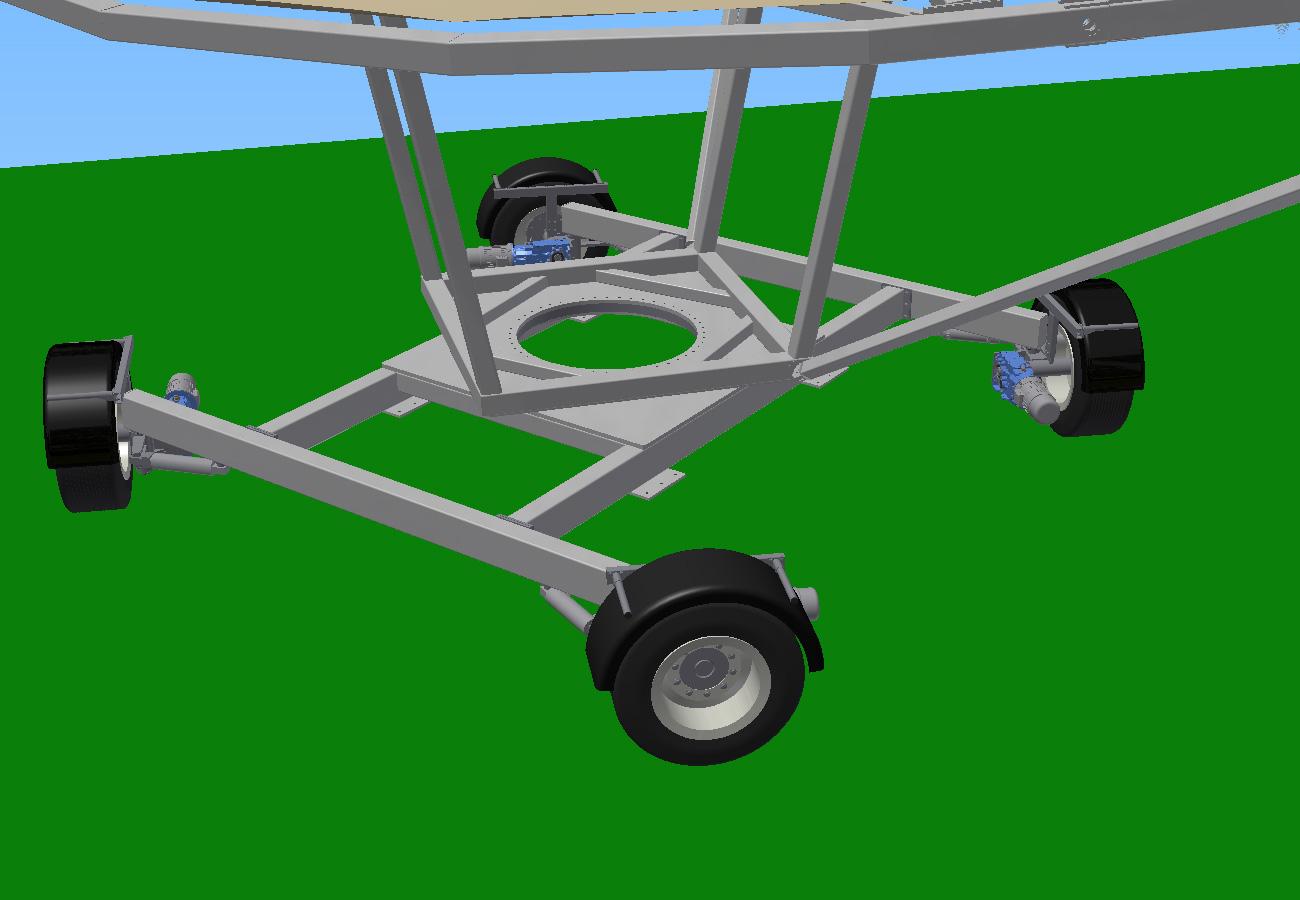Carro girando Proyectos Especiales Marquesina móvil Axial Solar